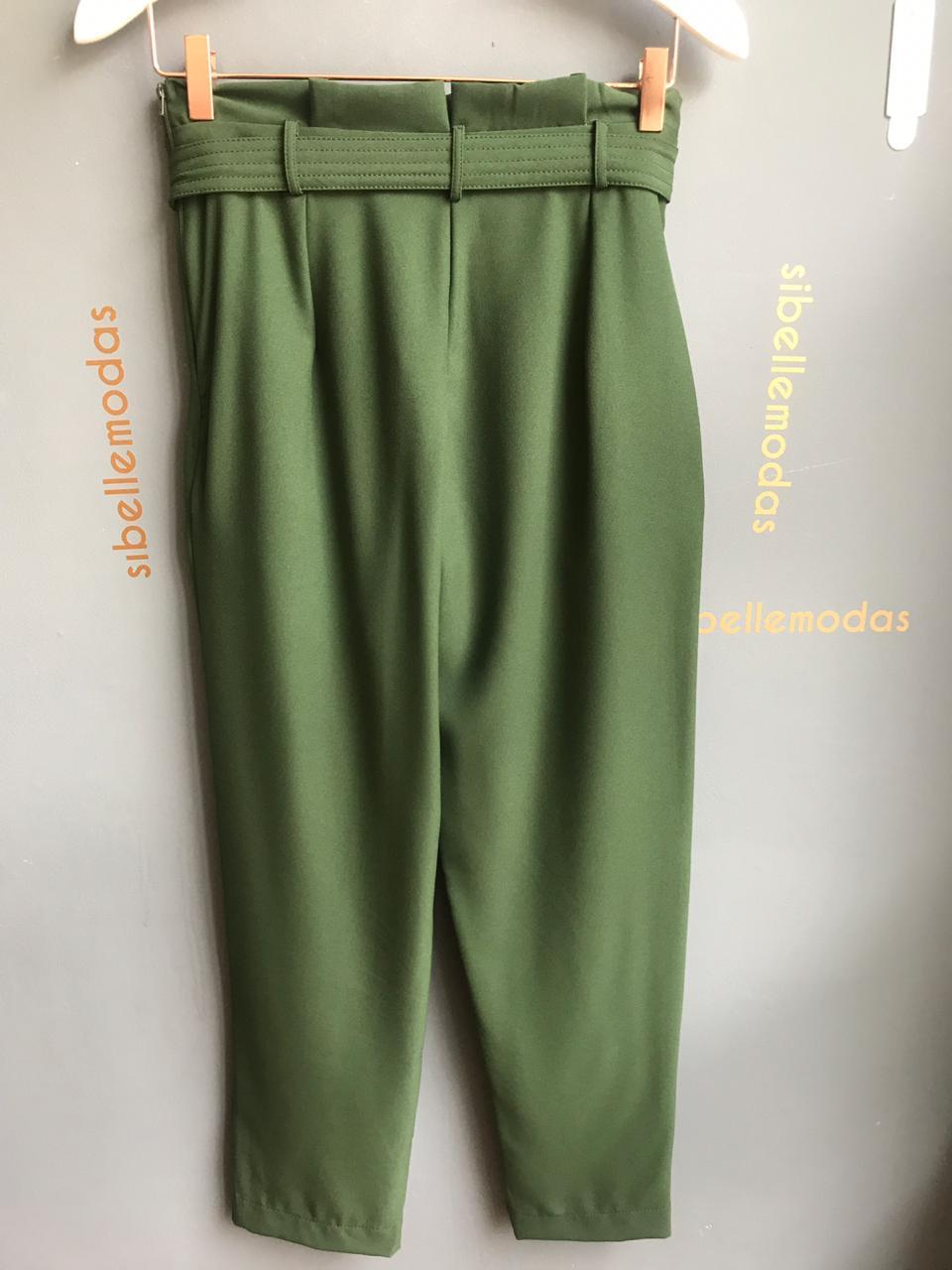 Calça Luana Clochard Jogger 8 % Elastano Cores Verde e Mostarda