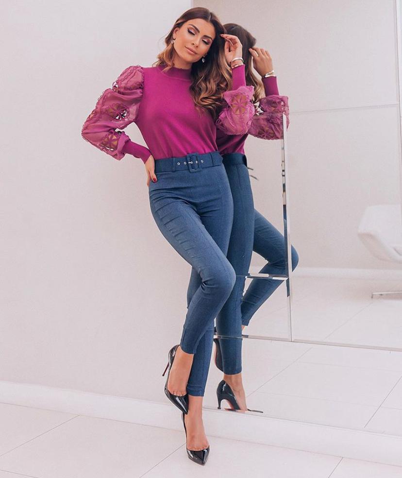 Calça Luize  Jeans 3% elastano