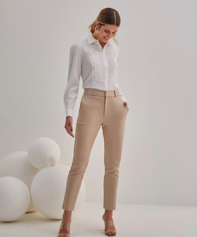 Calça Maria Unique Skinny Basic Poliamida 3% Elastano