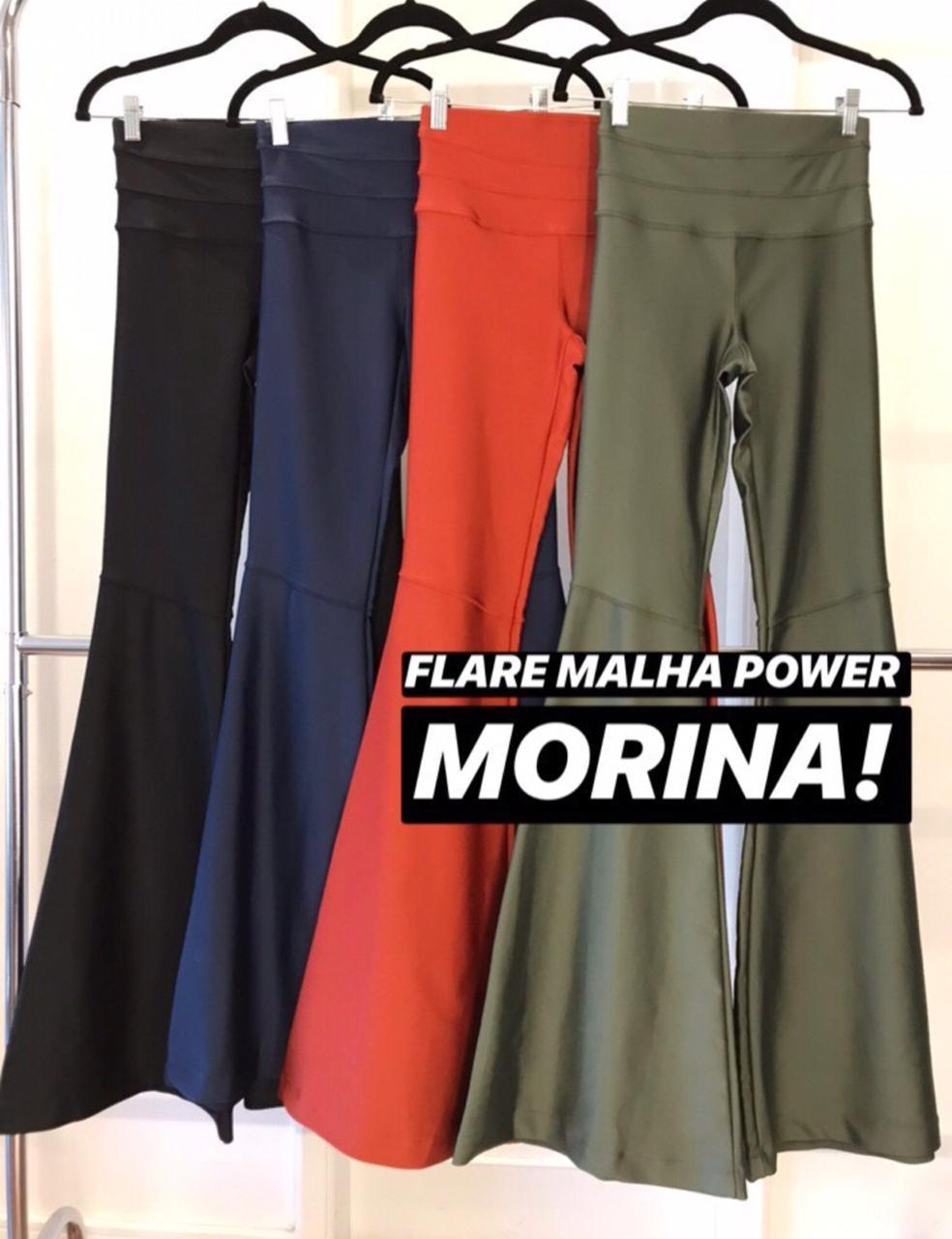 CALÇA Morina FLARE POWER Cores Preto, Marinho, Terra Cota