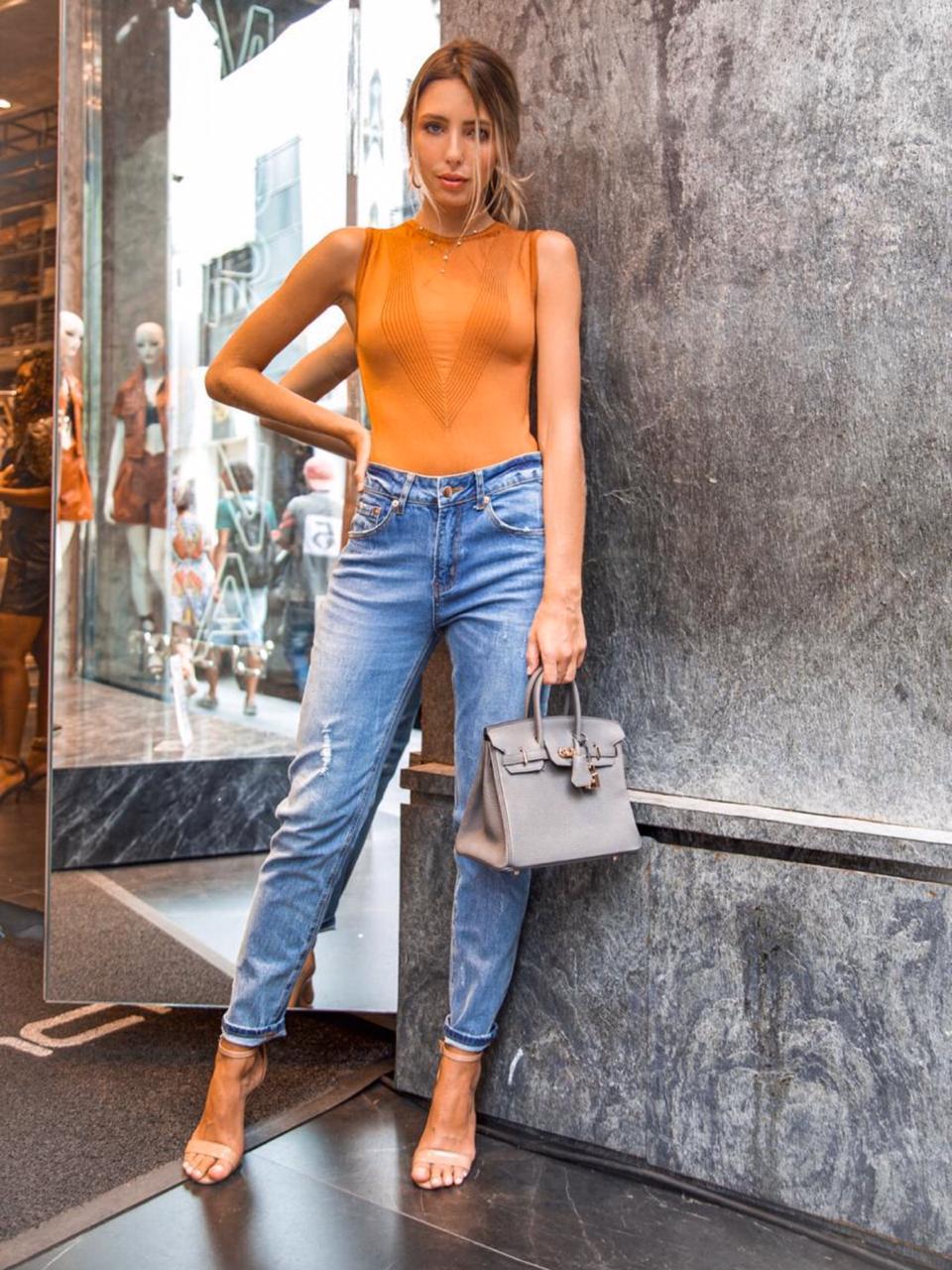 Calça Morina Jeans Slim  Boy Friend 1% elastano