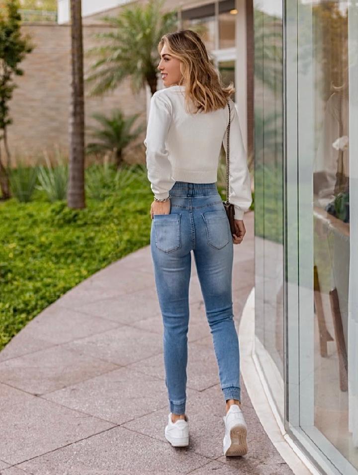 Calça Morina Moleton  Jeans