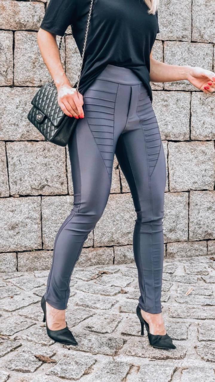 Calça Morina Power  Skinny Cores :preto ,verde e chumbo