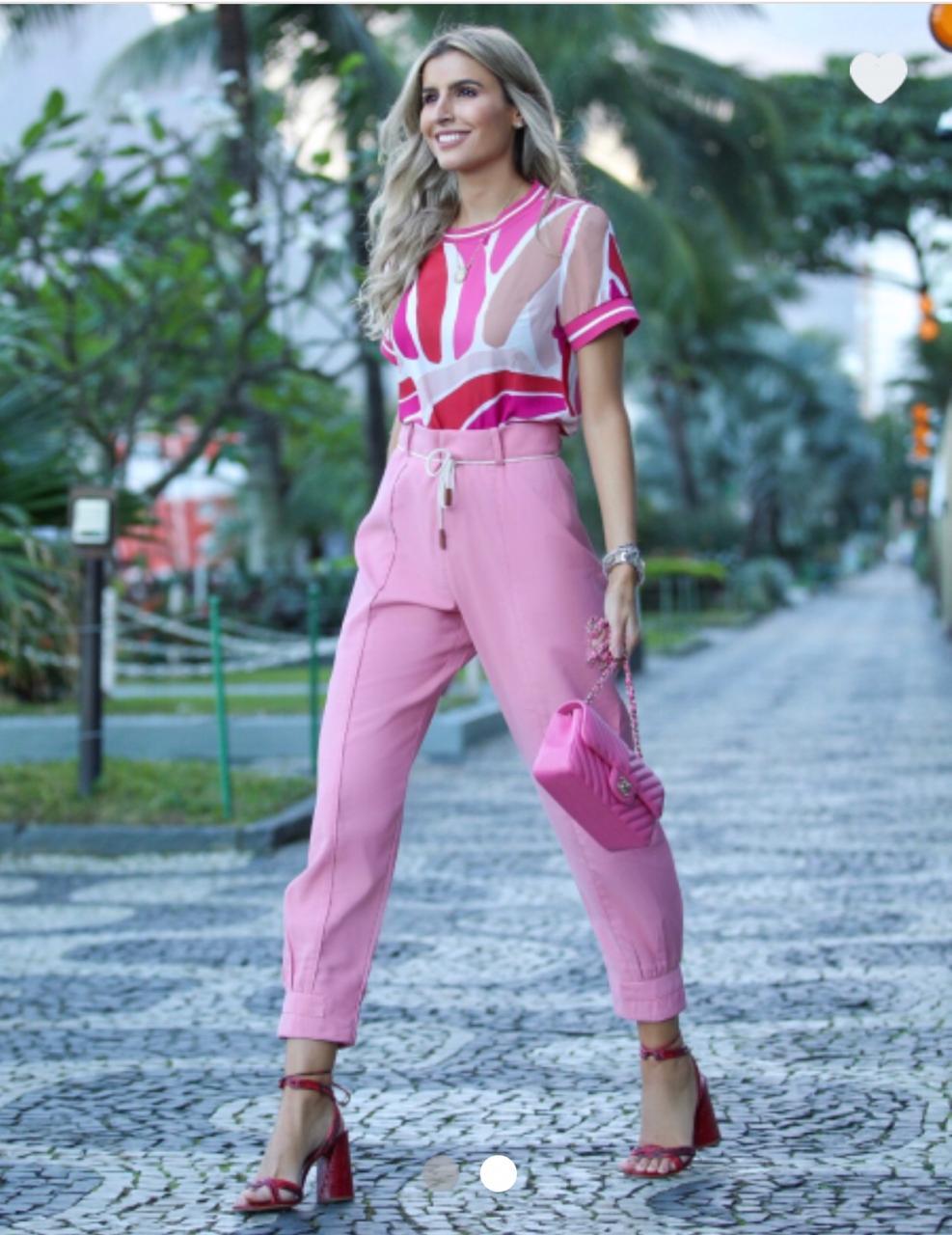 Calça Natalia Viscolinho + Cinto Cordão