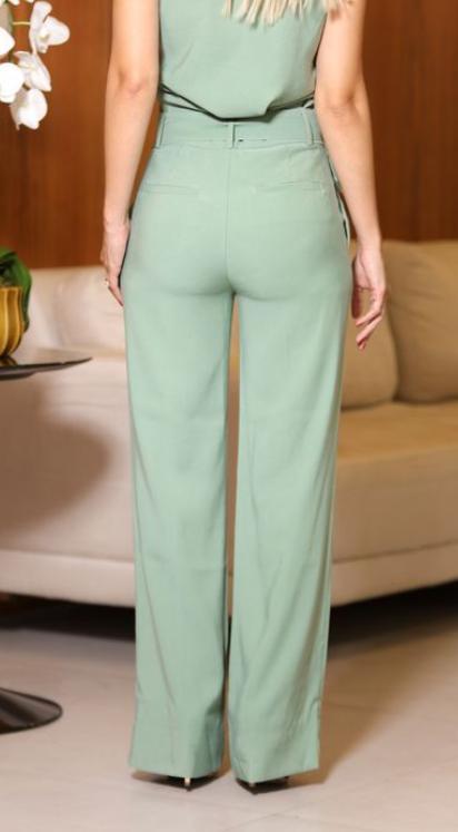 Calça Pantalona Cheroy Viscocrepe C/ Cinto
