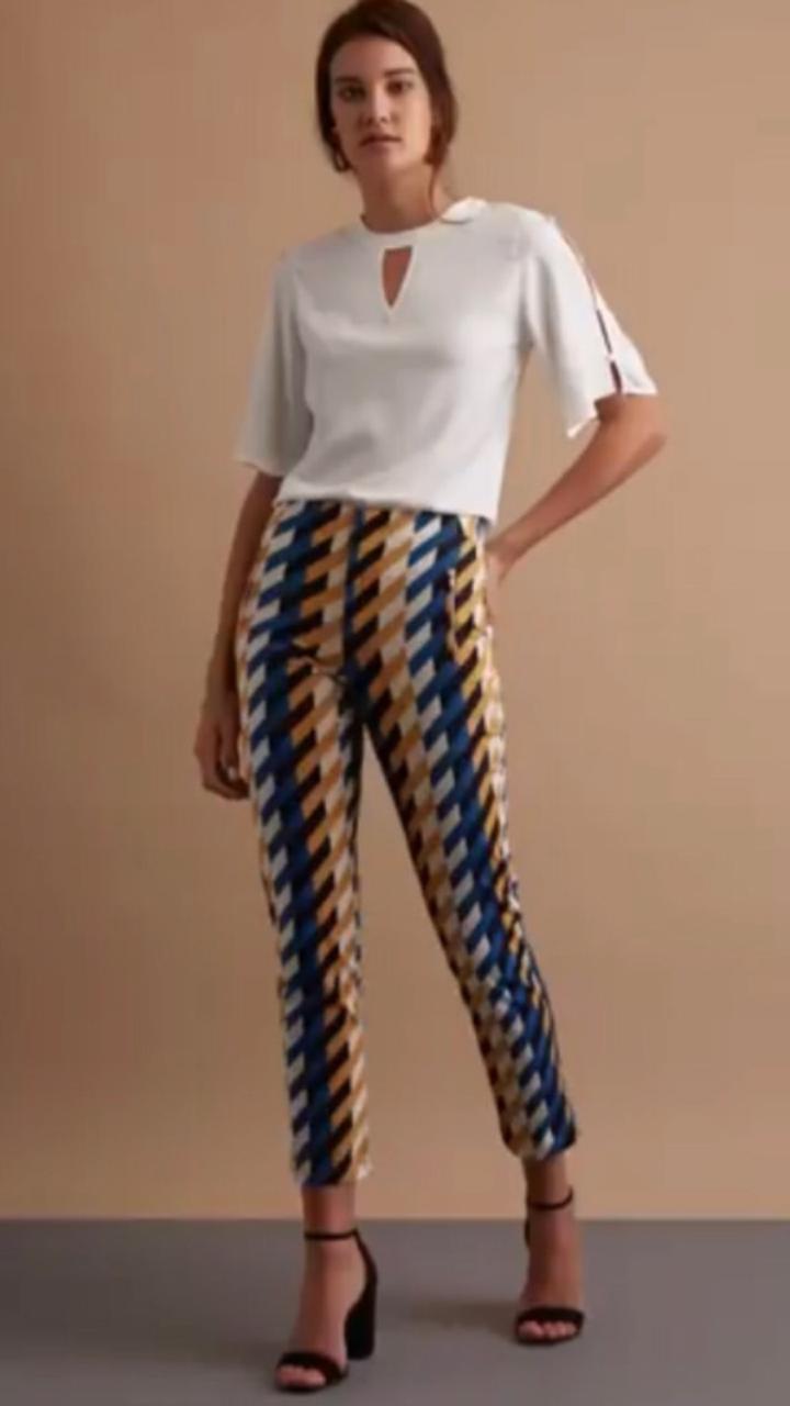 Calça Poliana Unique  Skinny Sarja Print 2 % Elastano