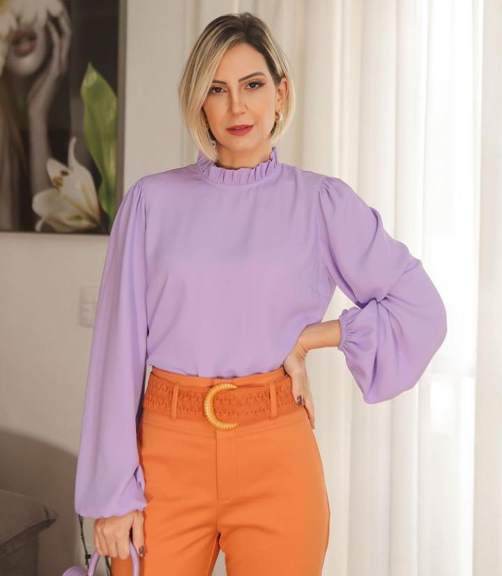 Calça Unique Alfaiataria 3% Elastano Skinny Detalhe Cinto Renda