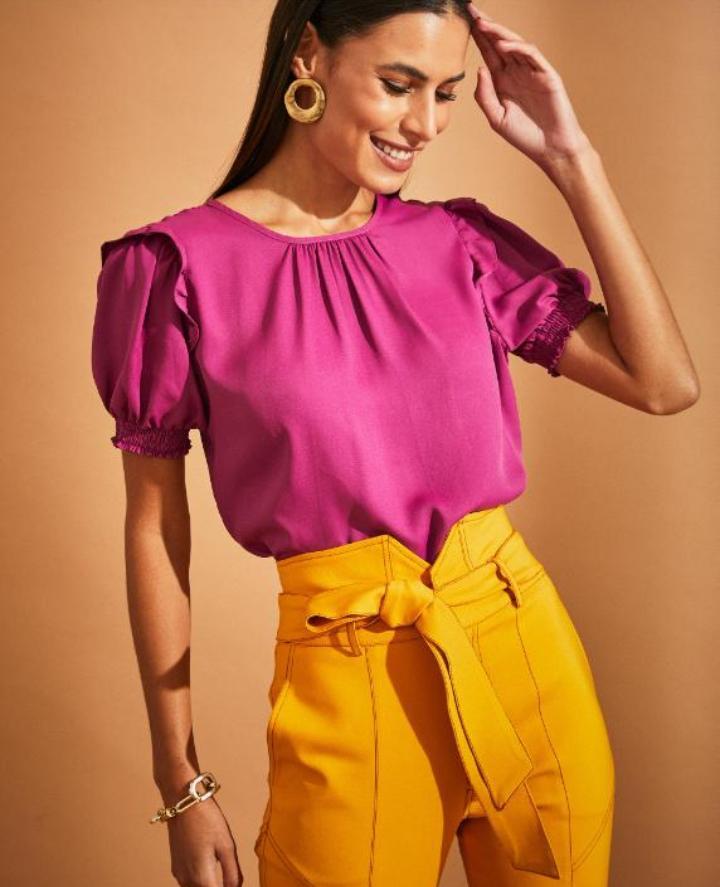 Calça Unique Alfataria 3% Elastano Skinny Detalhe Recortes
