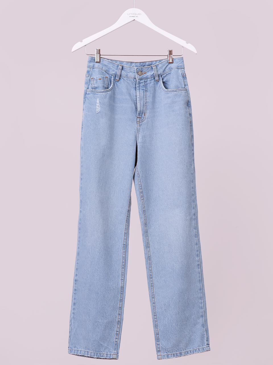 Calça Unique Jeans Cropped Reta (Forro) 100% Algodão