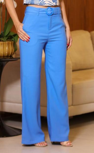 Calça Unique Pantalona  Crepe