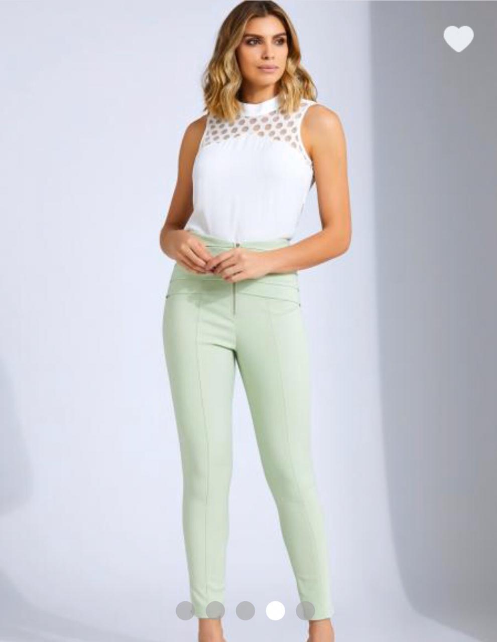 Calça Unique Skinny  3% Elastano 50% algodão 47% Poliamida