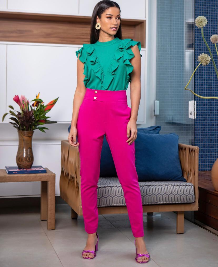 Calça Unique Skinny Aba Cós 4% Elastano
