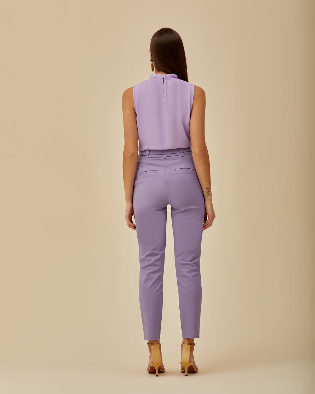 Calça Unique Skinny Cinto Mesclado 3% Elastano