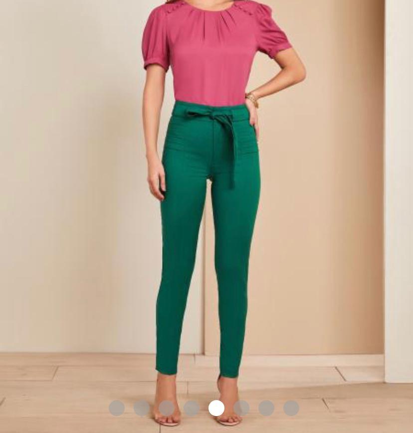 Calça Unique  Skinny Detalhe Amarração 4% Elastano