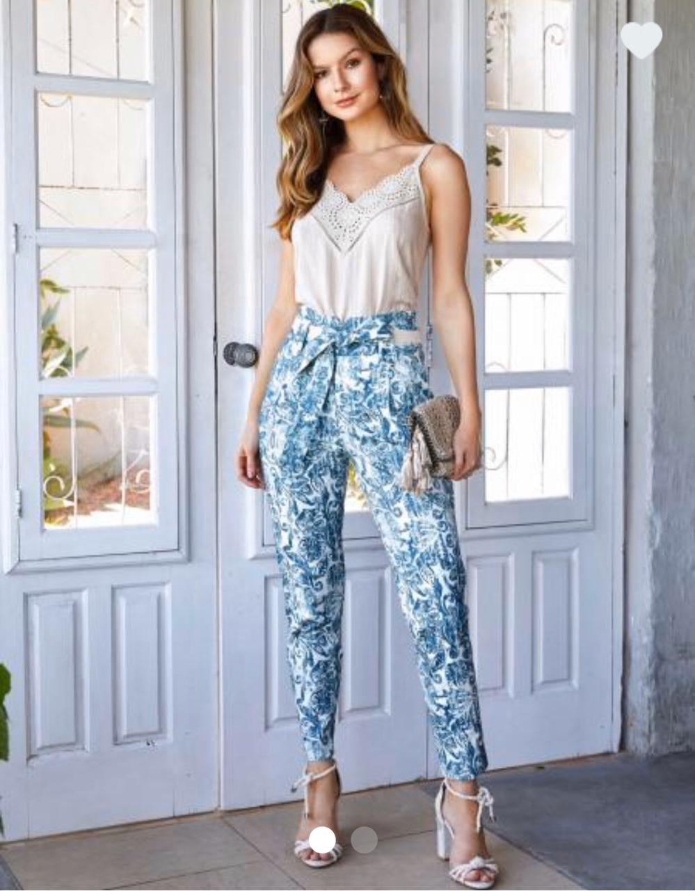 Calça Unique Skinny  Print Etnico 98% Algodão 2 % elastano
