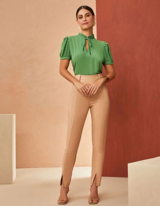 Calça  Unique  Skinny Sarja 3% Elastano