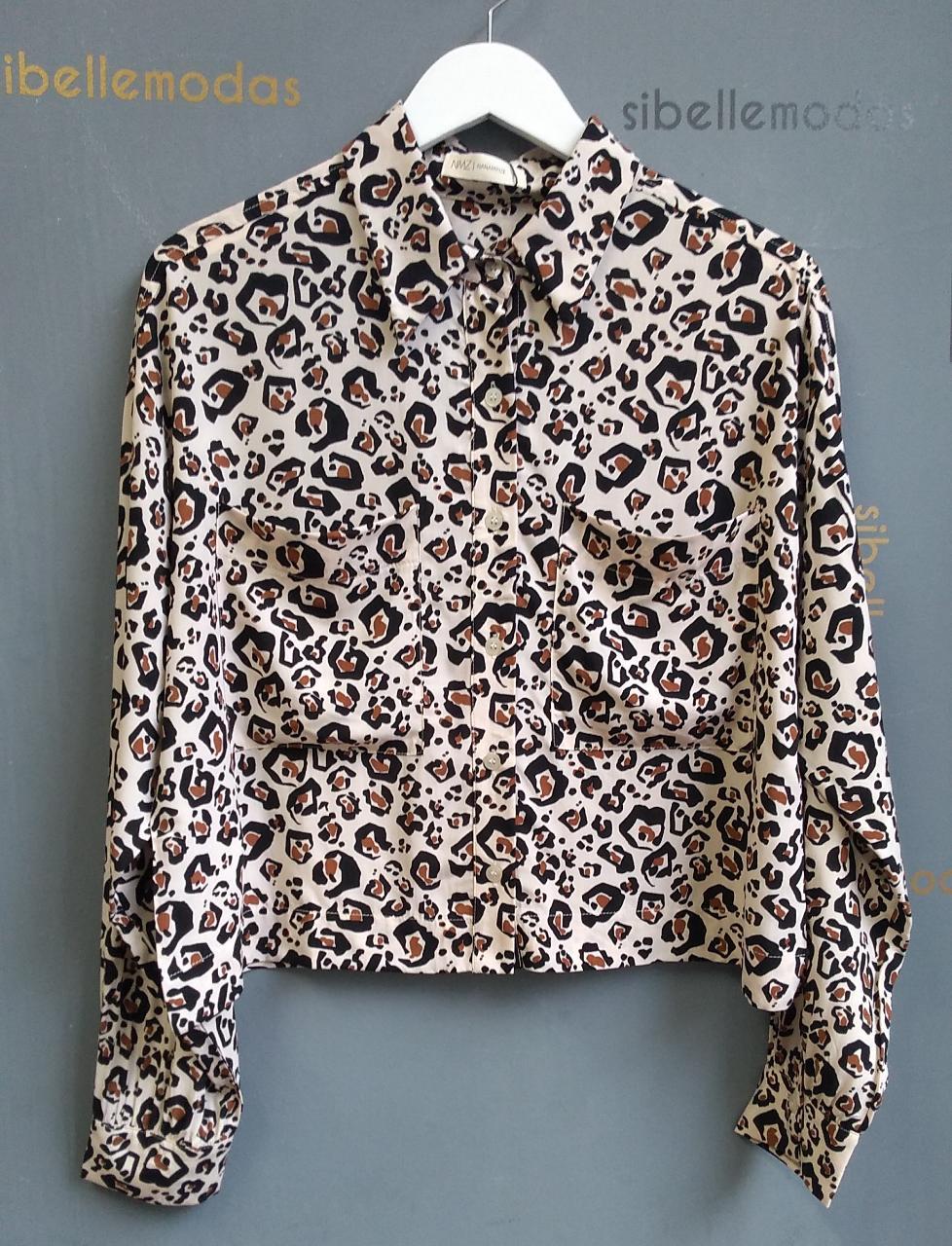 Camisa Catena Viscose Animal Print