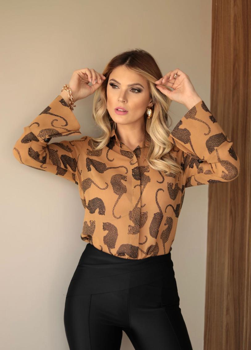 Camisa Cheroy Chiffon Big Cat