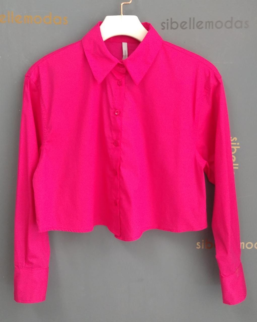 Camisa Esmeral Cropped 3% Elastano 97% Algodão