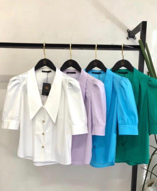 Camisa Greta Tricoline  Mista  3%Elastano