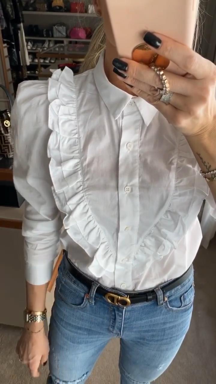 Camisa Hit Tricoline Babados