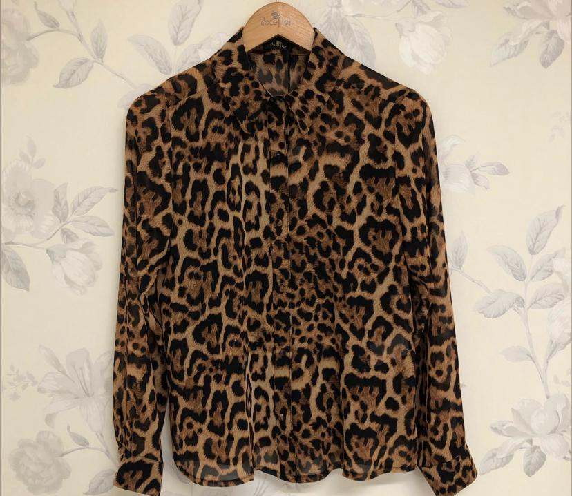 Camisa Ivete Chiffon Animal Print