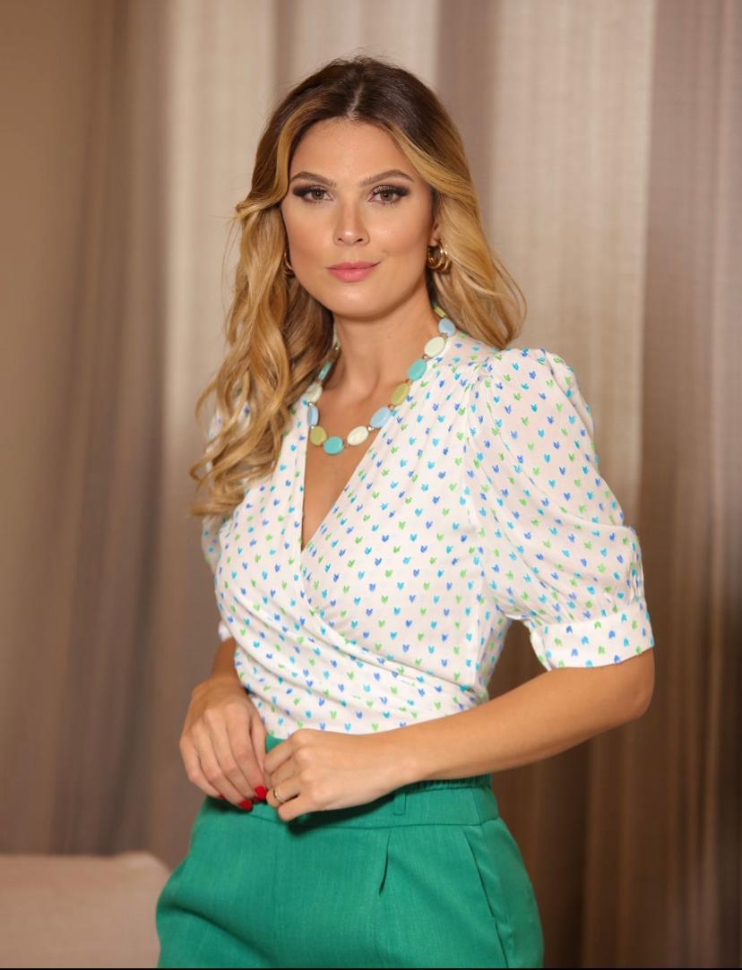 Camisa Jessica Viscose Plumentis Com Amarração