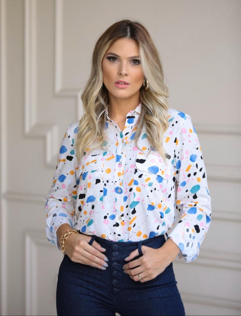 Camisa Larissa Viscose Print