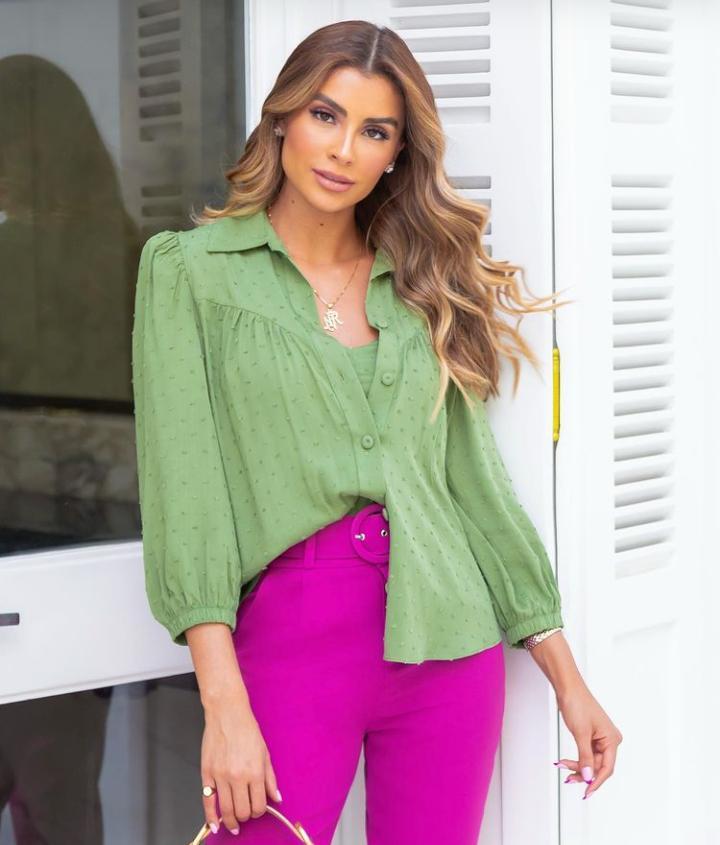Camisa Laura Viscose Pop +Top alça
