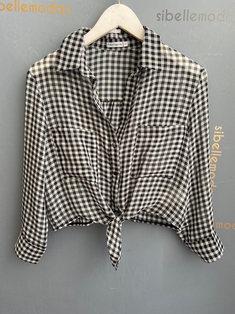 Camisa Morina Crepe Detalhe Amarração