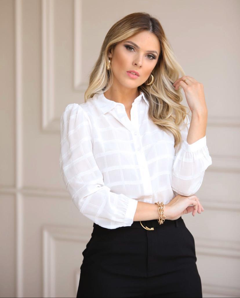 Camisa Morina Jacquard Check