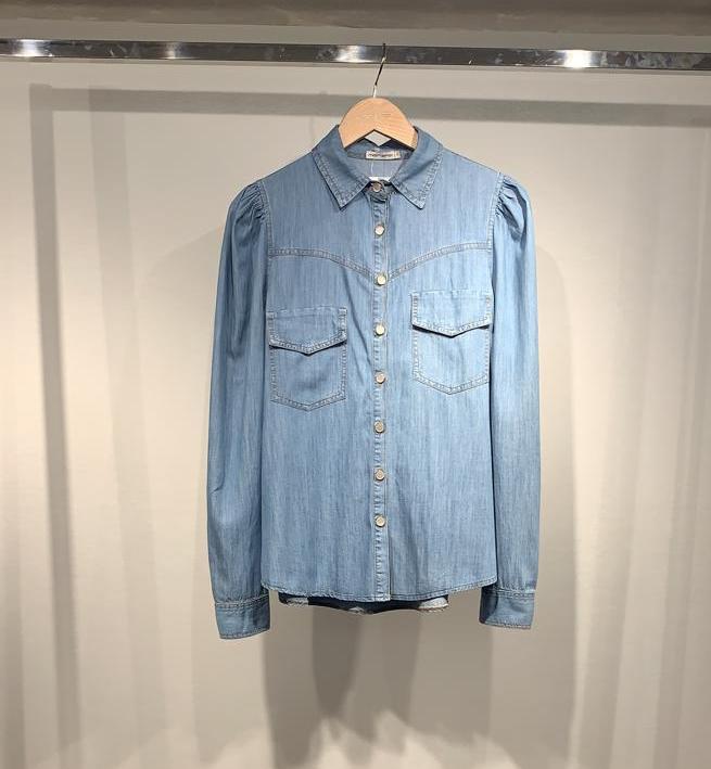 Camisa Morina Jeans Manga Princesa