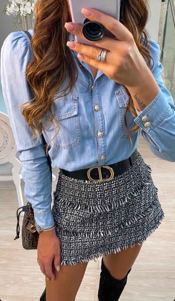 Camisa Morina  Jeans Gold