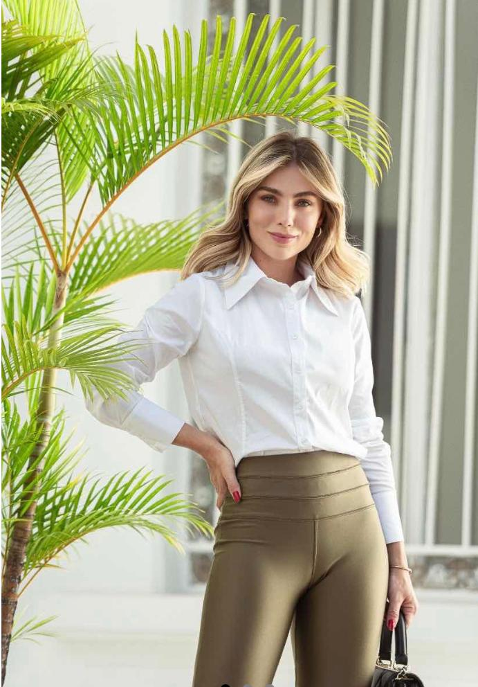 Camisa Morina  Tricoline  97% Algodão 3% Elastano