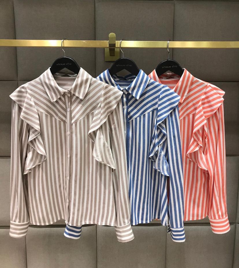 Camisa Paris Listrada Babados