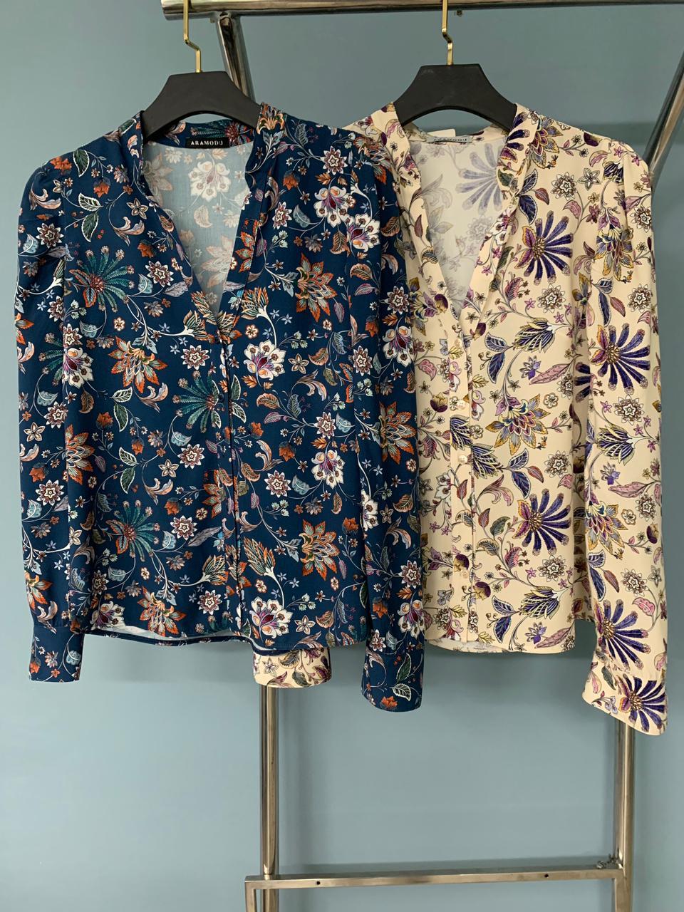 Camisa Raika Floral Viscose