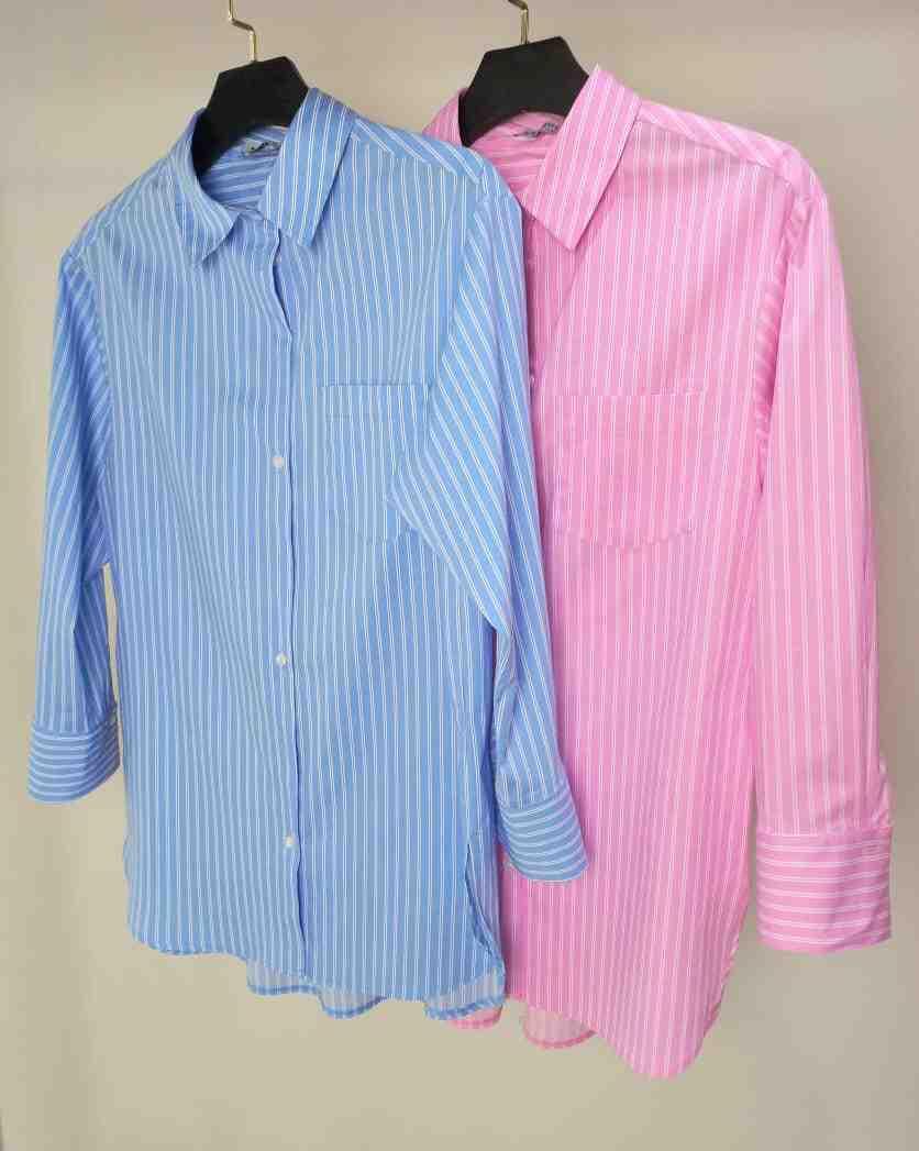 Camisa Shaiane Tricoline Detalhe Fechamento Botões 2% Elastano