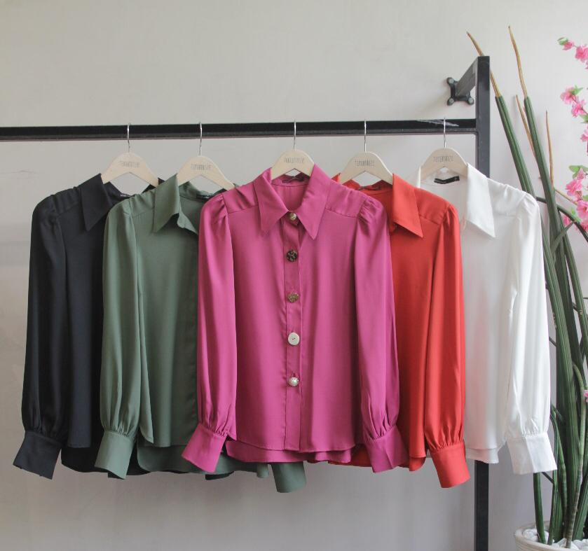 Camisa  Suzane Crepe  MG Longa