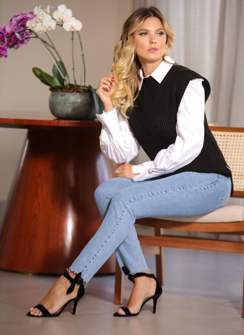Colete Leticia Fangue Tricot