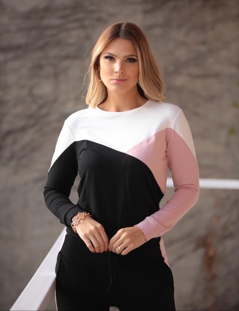 Conjunto Bianca Moletinho Tricolor 6% Elastano