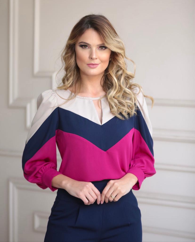 Conjunto Bolonha Crepe  Blusa e Calça (Forrada)