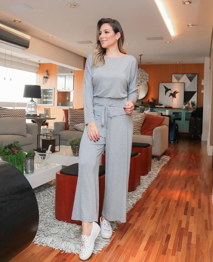 Conjunto  Carol  Malha  Blusa e calça