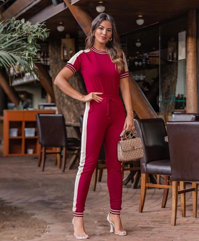 Conjunto Cecilia Moletinho Detalhe tricot