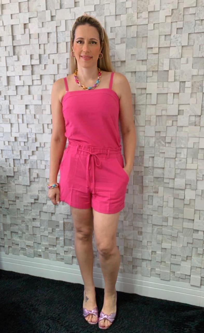 Conjunto Cheroy  Regata e shorts  em Linho