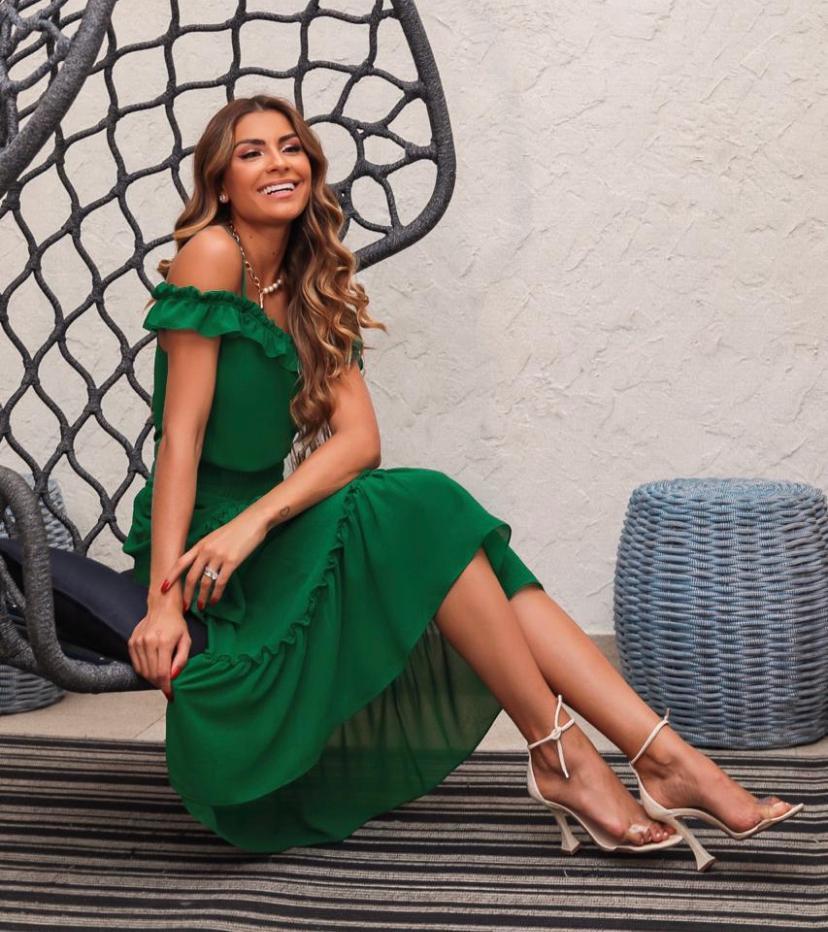 Conjunto Daniela Lisa Midi Com Babados