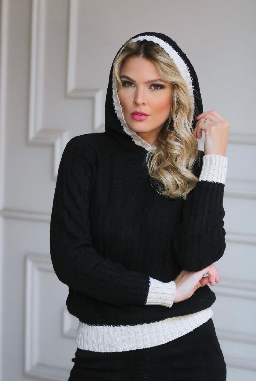 Conjunto Giovana Mousse Com  Capuz