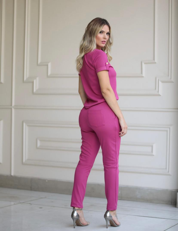 Conjunto Milena Malha Piquet 6% Elastano
