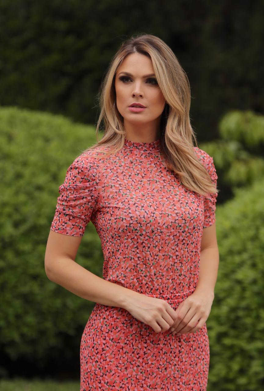 Blusa Morina Valentina Estampa Floral Guardenia