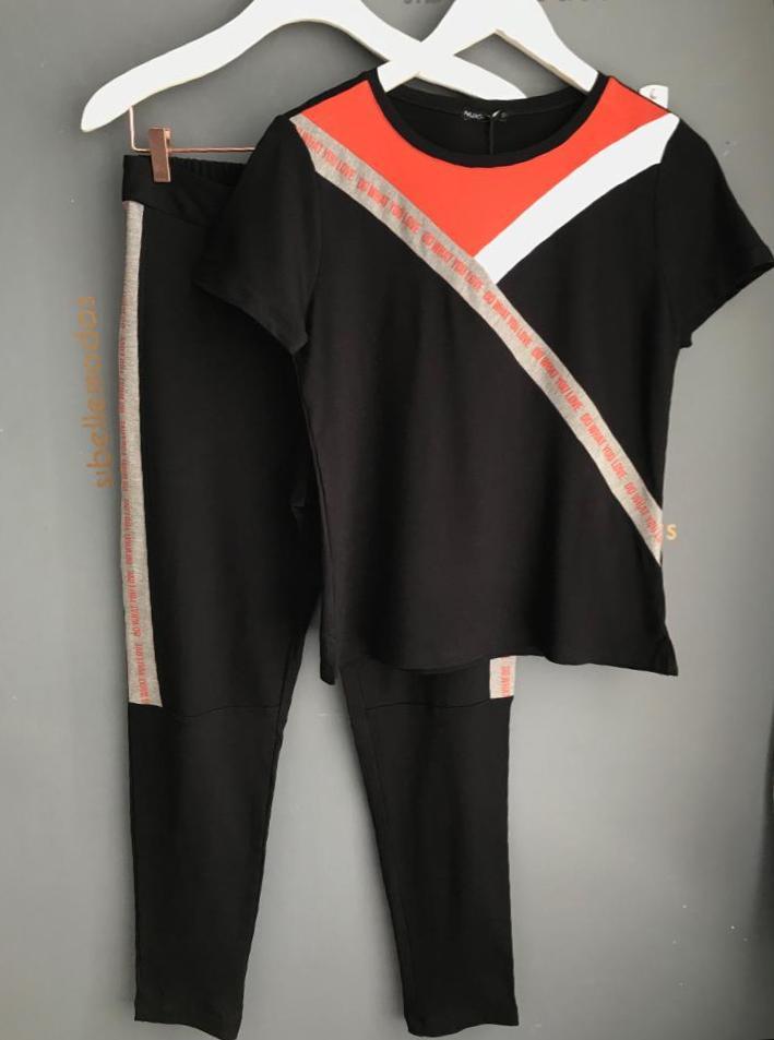Conjunto  Nuxx   Moletinho Recortes  Colorido  Silk
