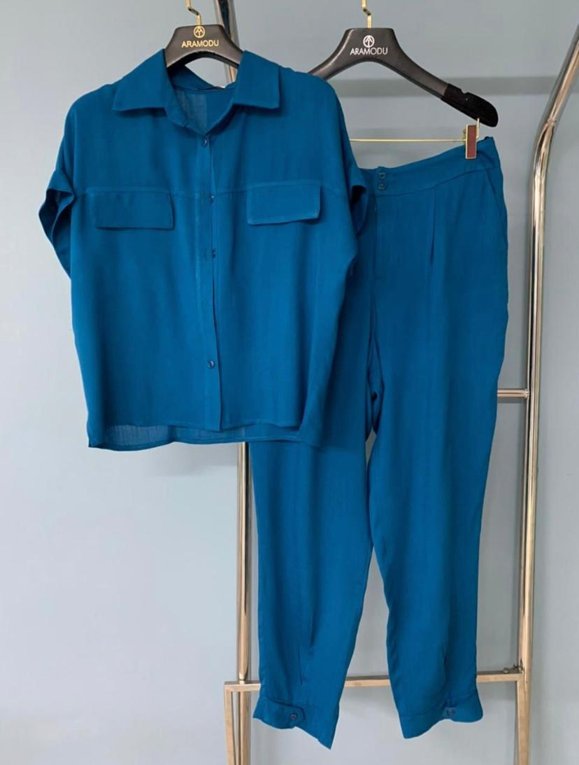 Conjunto  RUBI  Viscose (Calça E Blusa )
